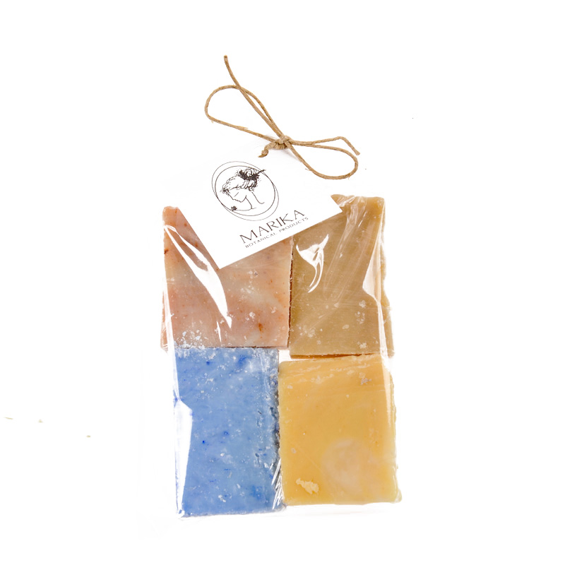 Soap pieces in a bag