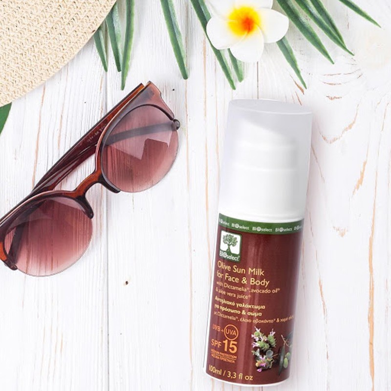 Olive Sun Milk For Face & Body – Medium Protection SPF 15